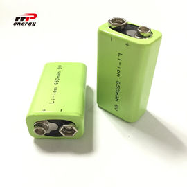 Chine 2000 dispositifs médicaux d'interphone des batteries rechargeables 9V 650mAh d'ion de lithium de cycles distributeur